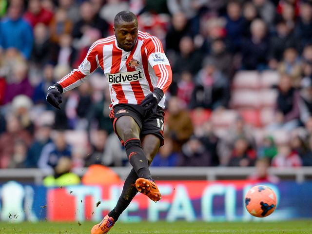 Jozy Altidore of Sunderland takes a shot
