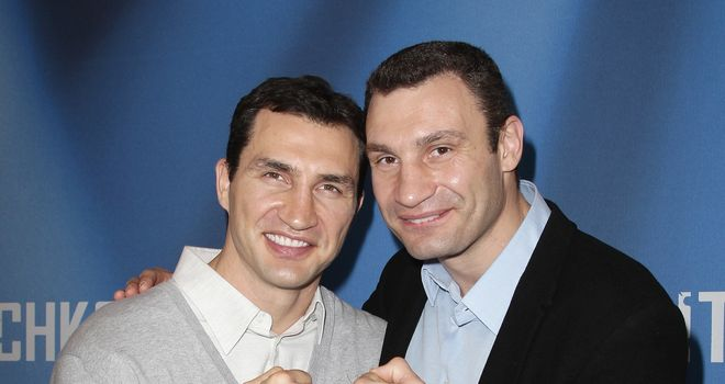 Brothers in arms: Wladimir (L) relied on Vitali, says Glenn