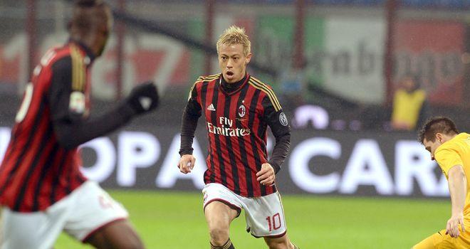 Keisuke Honda in action for AC Milan