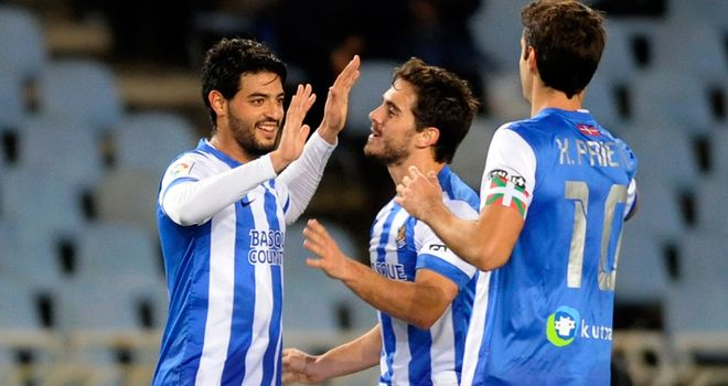 Carlos Vela found the net to claim a late win for Sociedad