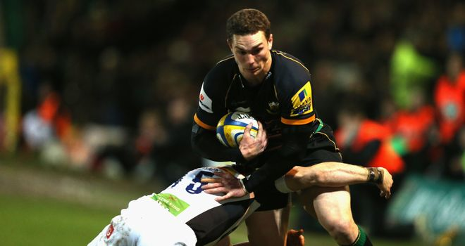 George North: scored the opening try for Northampton