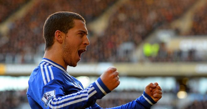 Eden Hazard: Broke the deadlock for Chelsea with a fine goal