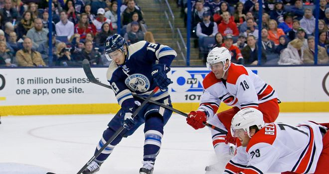 Carolina Hurricanes' winning streak ended on Friday against the Columbus Blue Jackets