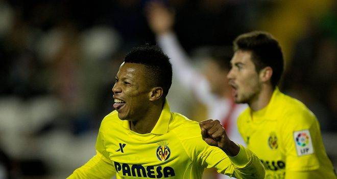 Ikechukwu Uche celebrates for Villarreal