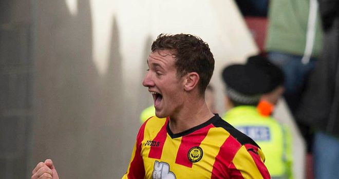 Kris Doolan: His last-gasp goal secured a point for Partick