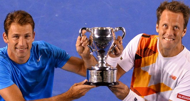 Lukasz Kubot (L) and Robert Lindstedt: Major champions Down Under