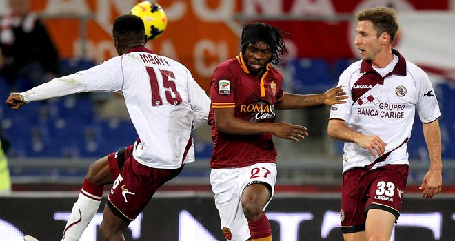 Gervinho in action for Roma