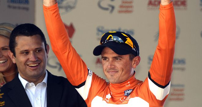 Simon Gerrans leads the Santos Tour Down Under after winning stage one