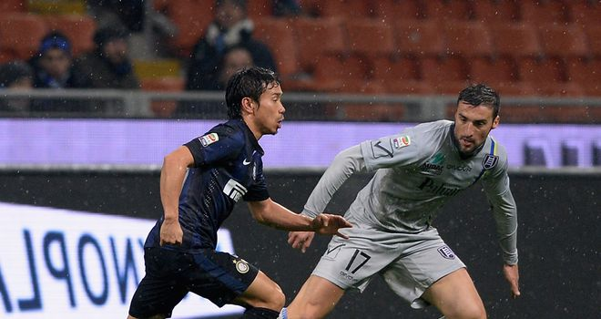 Yuto Nagatomo was on target for Inter Milan
