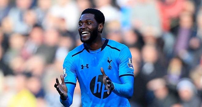 Emmanuel Adebayor: Appears to be a symbol of a changing mentality at Tottenham