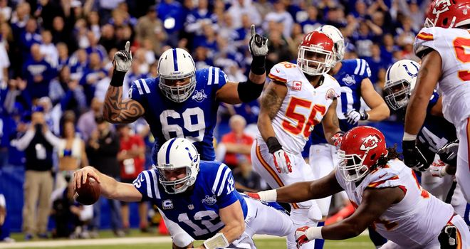 Andrew Luck: Indianapolis Colts star scores a touchdown against Kansas City Chiefs