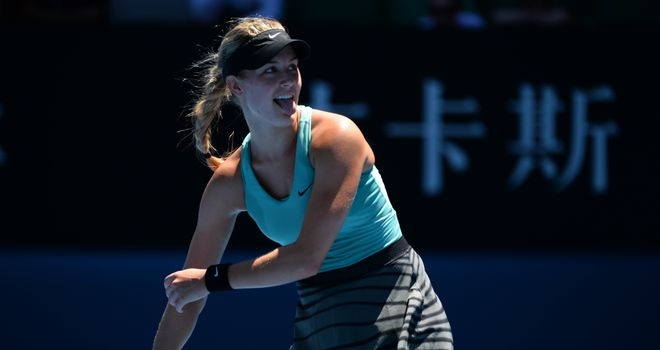 Eugenie Bouchard ousted Ana Ivanovic in the quarter-finals