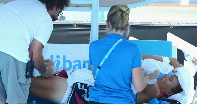 Varvara Lepchenko: Is treated amid temperatures in excess for 40c