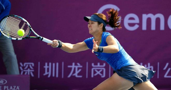 Li Na: Remains on course to defend her Shenzhen Open title