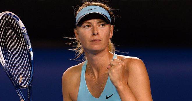 Maria Sharapova: Did not have things all her own way against Mattek-Sands