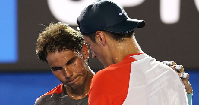 Rafael Nadal sympathizes with Bernard Tomic after he quit through injury