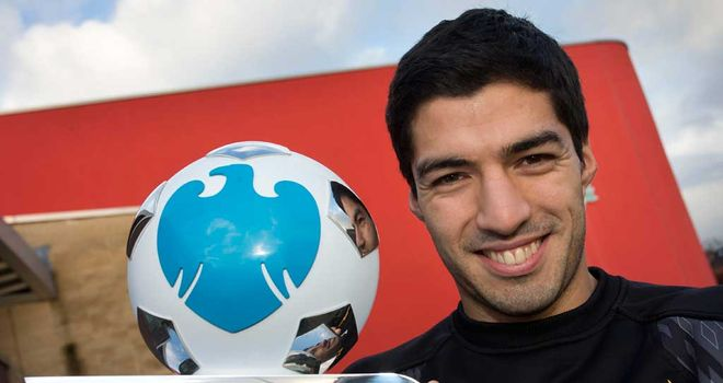 Luis Suarez: Liverpool striker was named Barclays player of the month