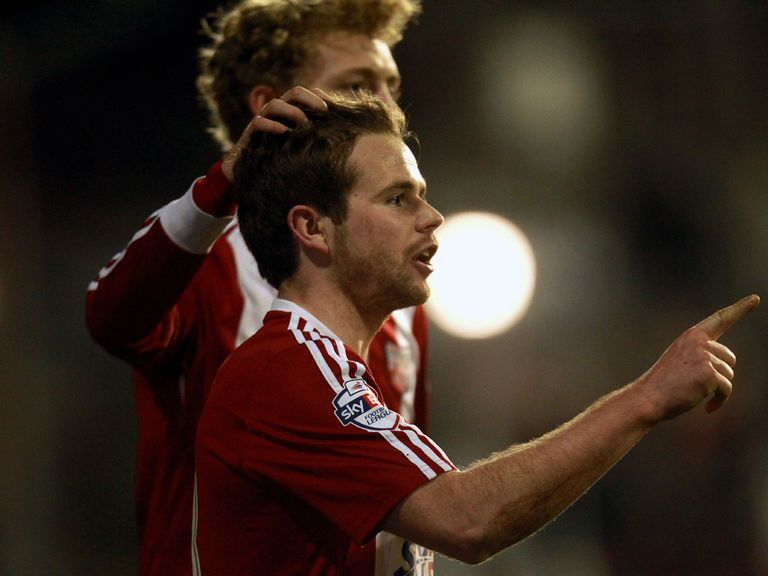 Alan Judge celebrates for Brentford