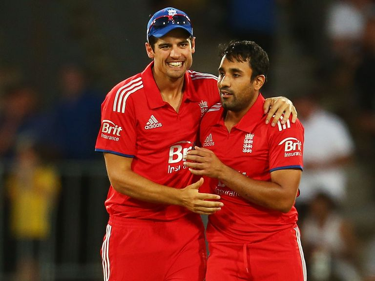 Alastair Cook (l): Has the backing of Ravi Bopara