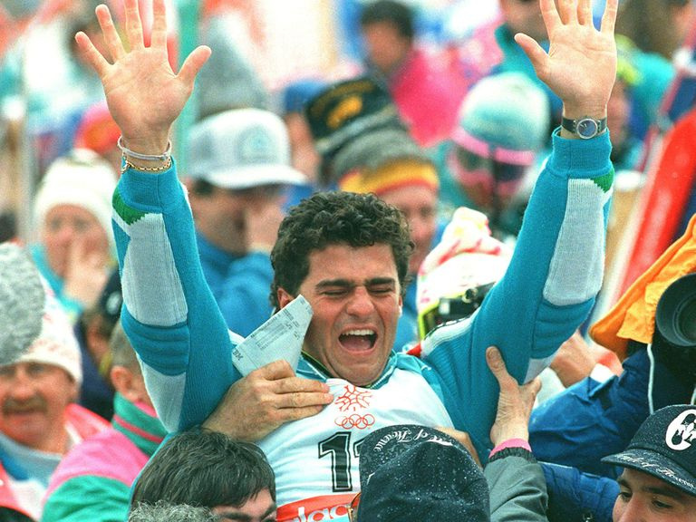 Alberto Tomba was one of the stars of the 1988 Games