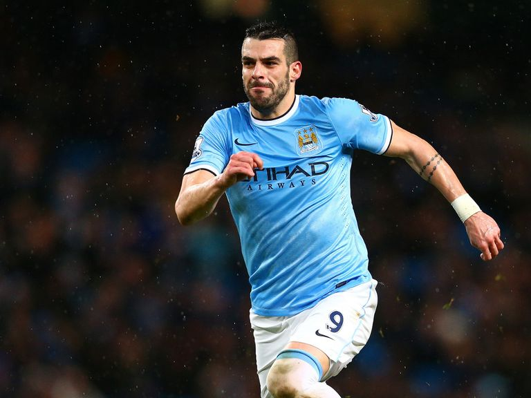 Alvaro Negredo: Not looking to leave Manchester City