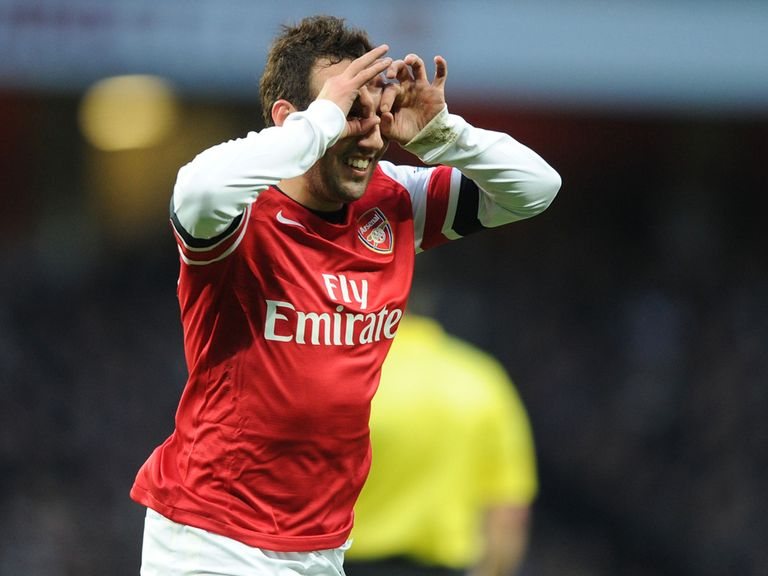 Santi Cazorla: Netted twice against Fulham