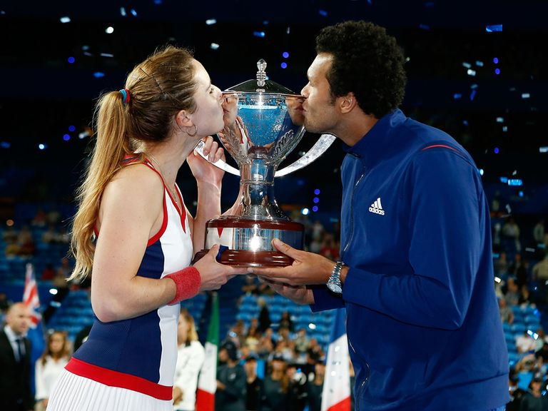 Tsonga and Cornet were winners of the Hopman Cup