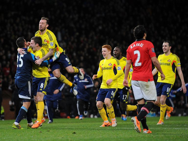 Sunderland celebrate after their penalty shooutout win