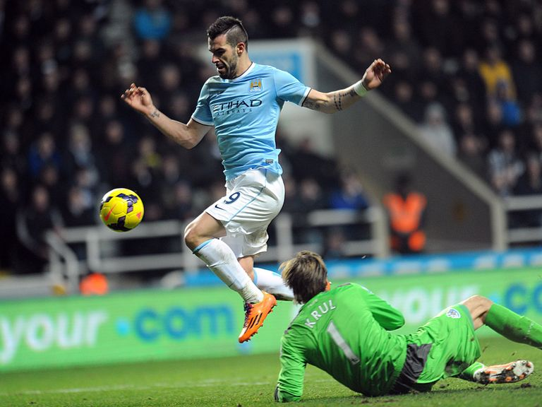 Alvaro Negredo scored as Manchester City beat Newcastle 2-0.
