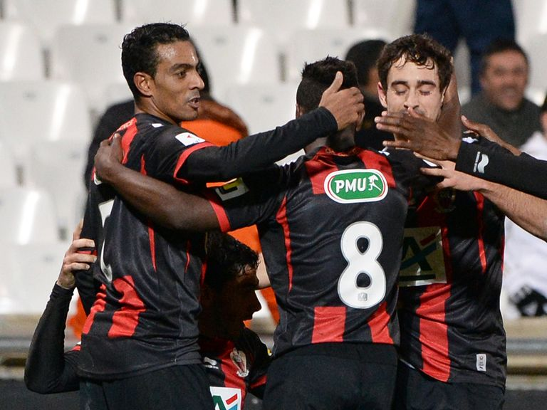 Nice celebrate during their thrilling win over Marseille