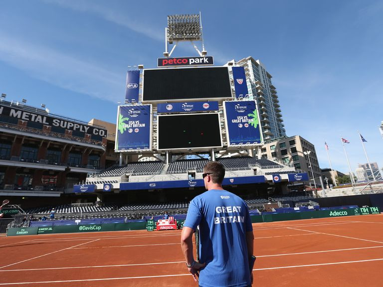 GB have concerns about the claycourt at Petco Park