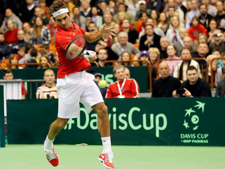 Roger Federer en route to victory in Novi Sad