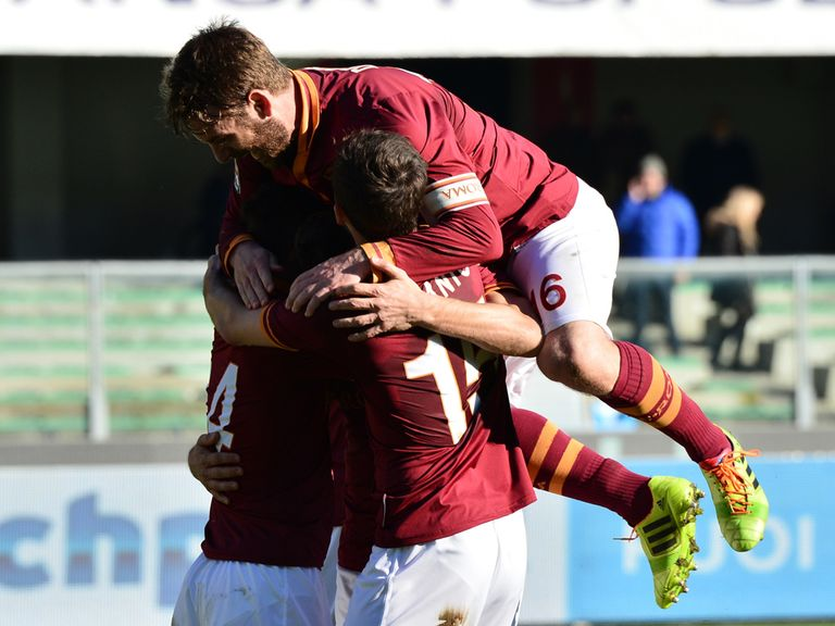Roma picked up three points at Hellas Verona