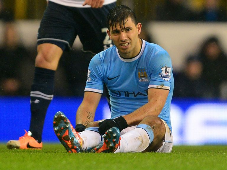 Sergio Aguero: Hamstring problems continue