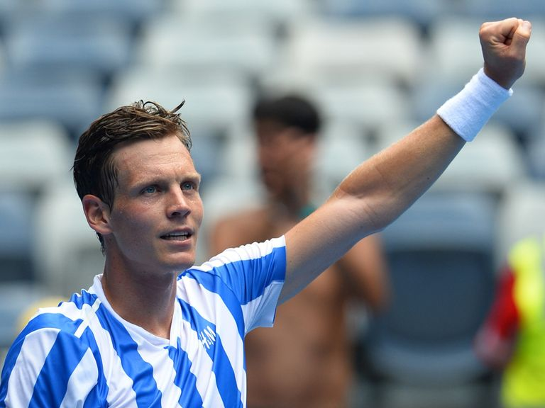 Tomas Berdych: Won in straight sets