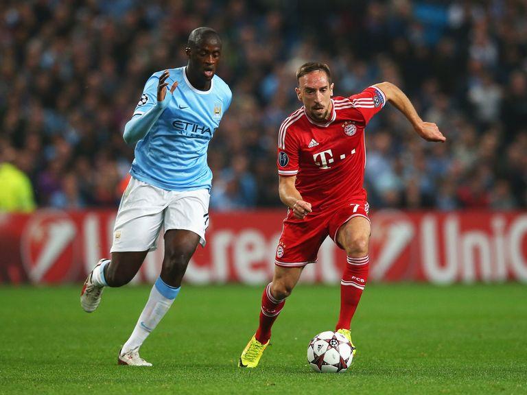 Yaya Toure in Champions League action against Bayern Munich