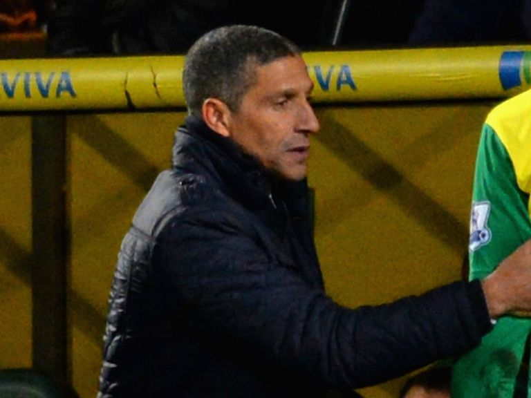 Chris Hughton: Under pressure at Norwich