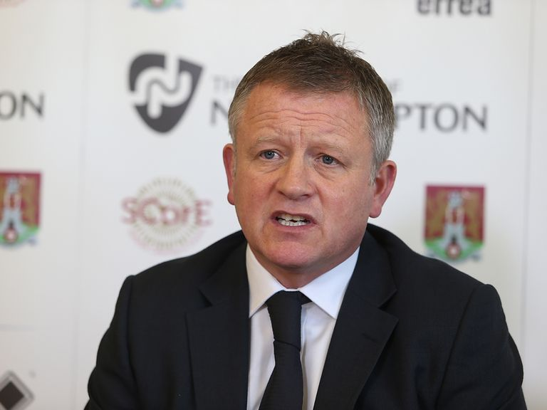 New Northampton Town manager Chris Wilder faces the press