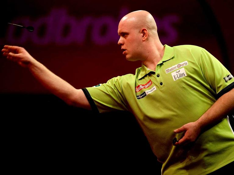 Michael van Gerwen: Safely through to the second round