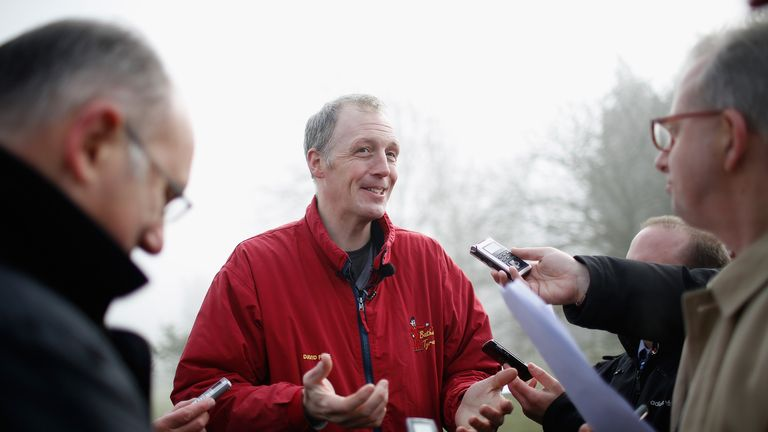 David Pipe: on the charge with Our Father at Haydock