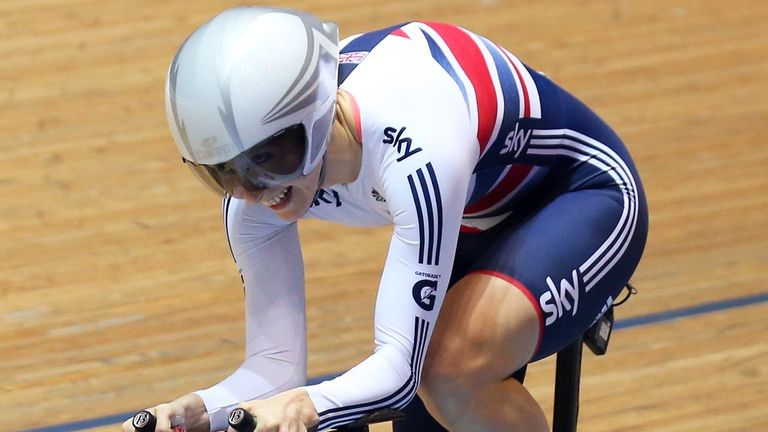 Joanna Rowsell qualified second fastest behind Sarah Hammer