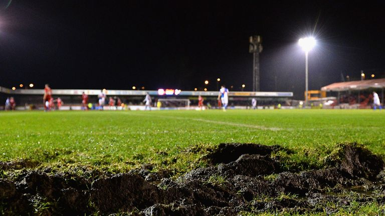 Broadfield Stadium: Pitch unplayable