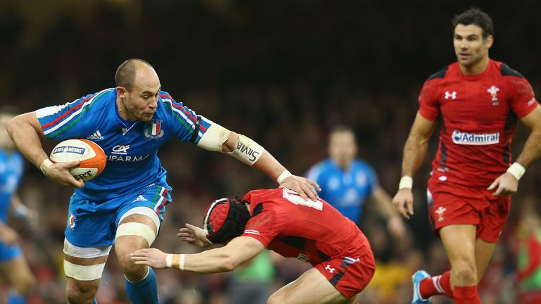 Sergio Parisse on the rampage in Cardiff last week