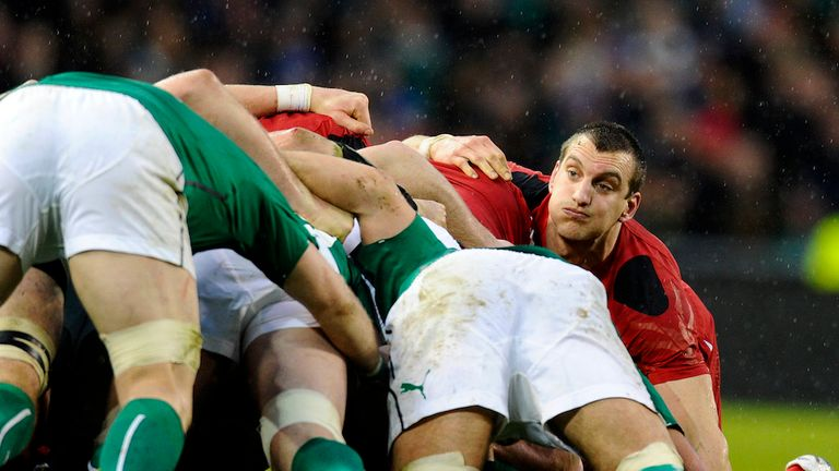 Sam Warburton on the back foot against Ireland
