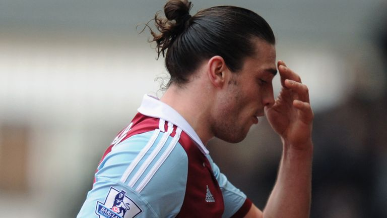 Andy Carroll: Saw red during West Ham's 2-0 win over Swansea