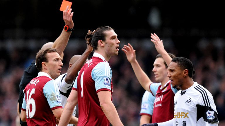 Andy Carroll: West Ham have appealed against striker's red card
