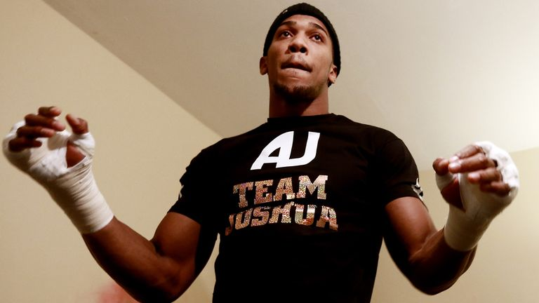 Anthony Joshua: Ruled out of Manchester bill with a hand injury