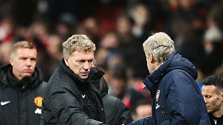 David Moyes and Arsene Wenger: Share a handshake before kick-off
