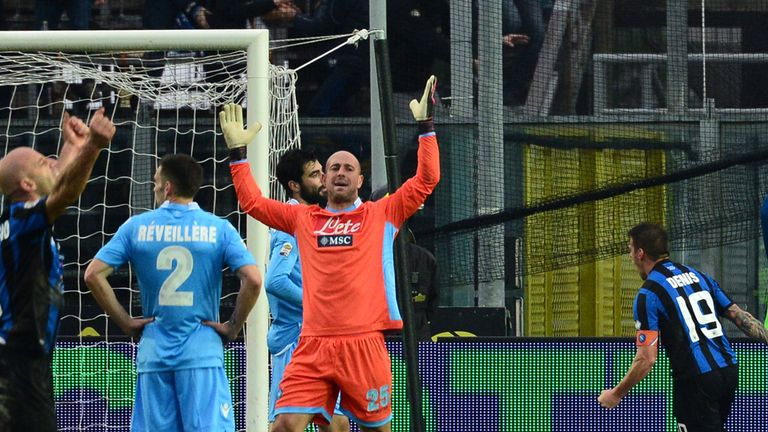 Pepe Reina: Rues one of Atalanta's goals