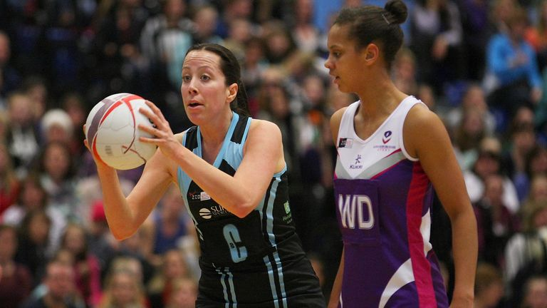 Becky Trippick made a huge mid-court impact on her return to the Surrey Sports Park court. (Photot by Gary Baker)